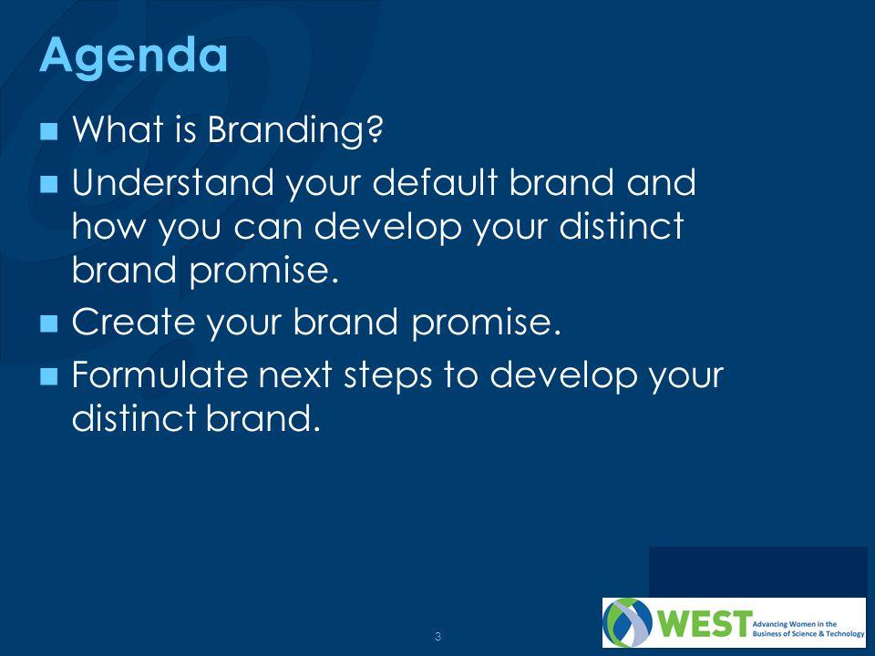Agenda What is Branding