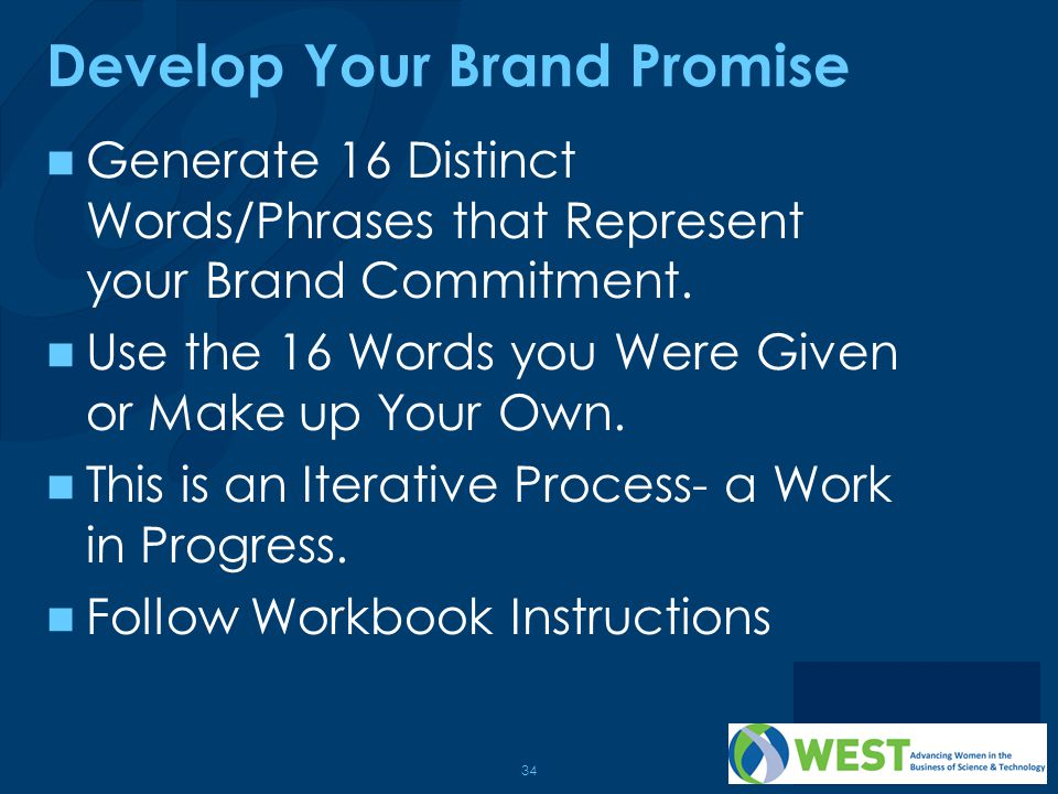 Develop Your Brand Promise