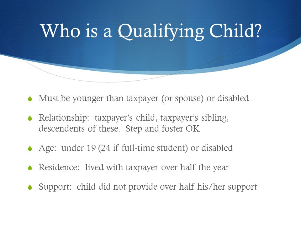 Who is a Qualifying Child