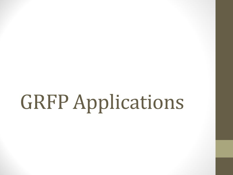 GRFP Applications