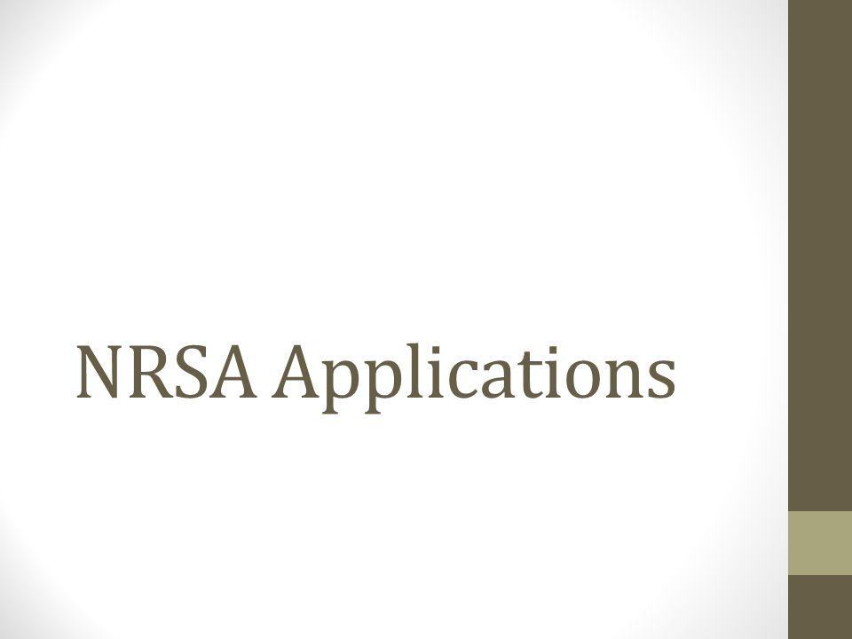 NRSA Applications