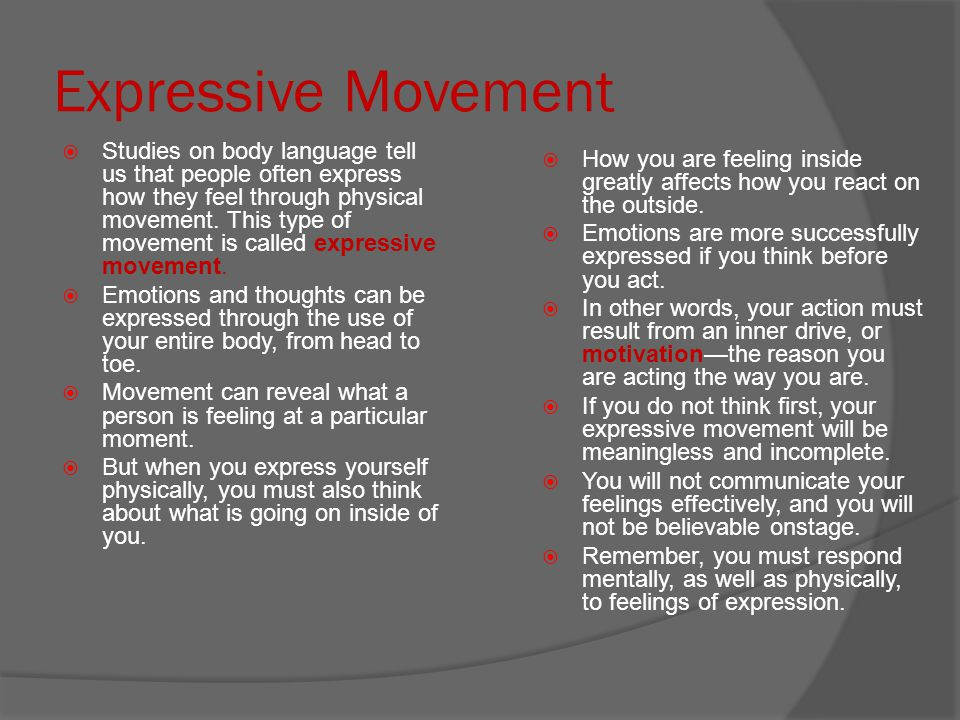 Expressive Movement