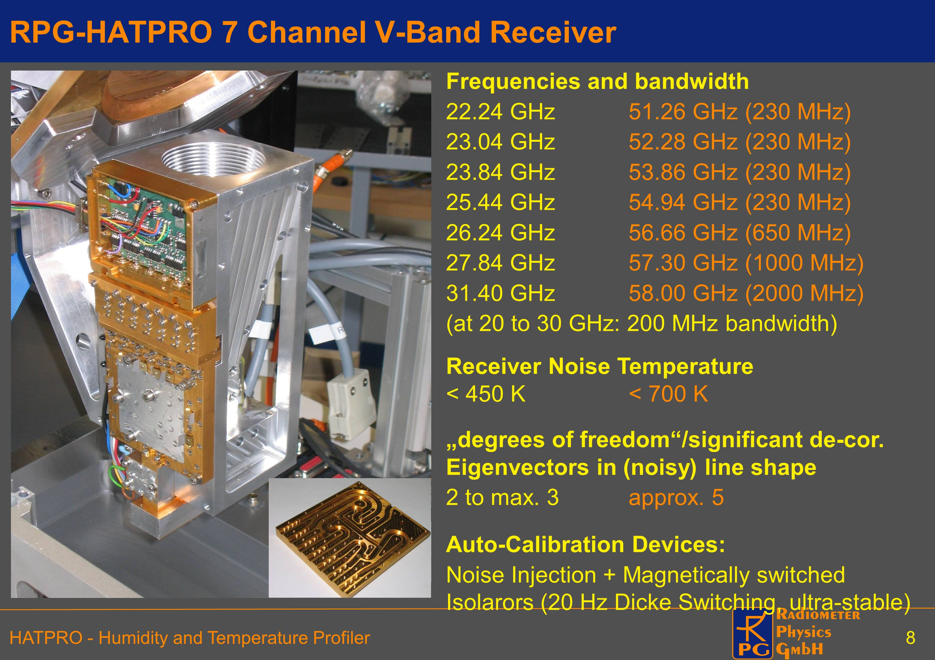 RPG-HATPRO 7 Channel V-Band Receiver