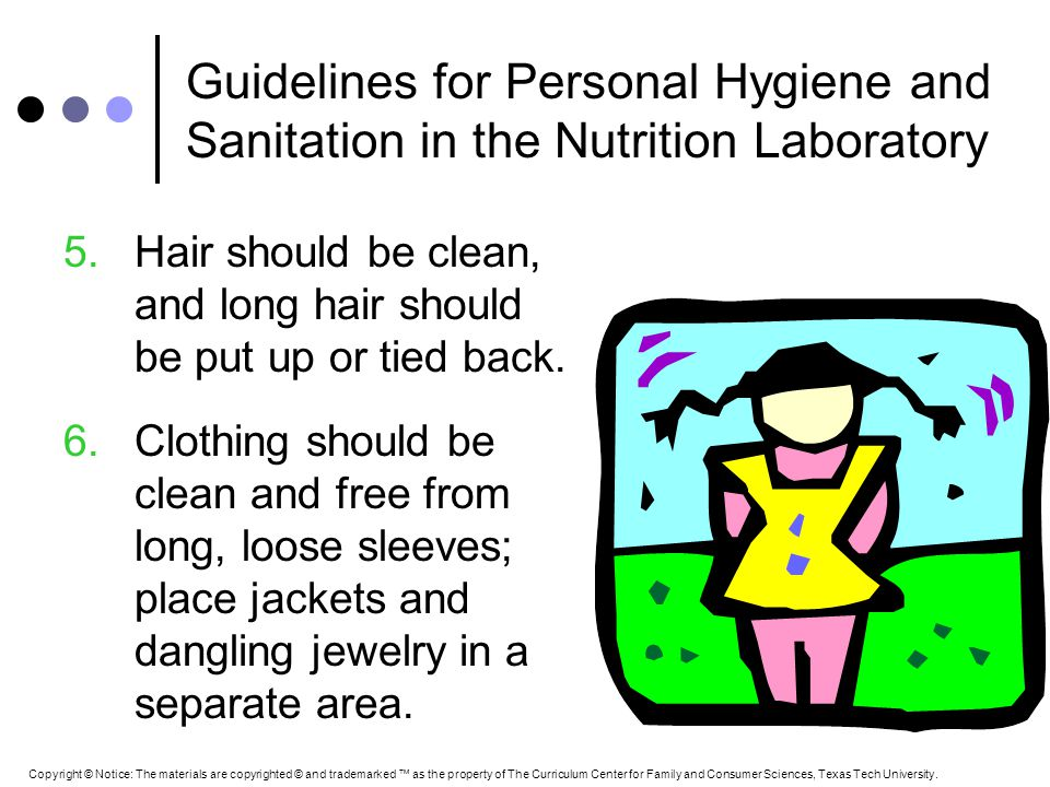 Guidelines for Personal Hygiene and Sanitation in the Nutrition Laboratory