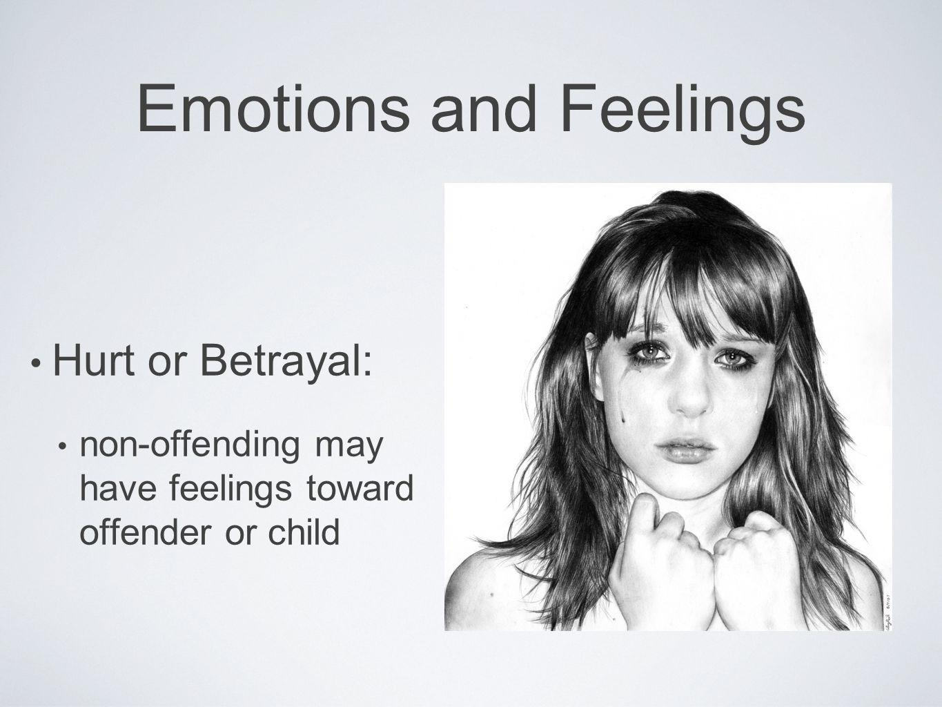 Emotions and Feelings Hurt or Betrayal: