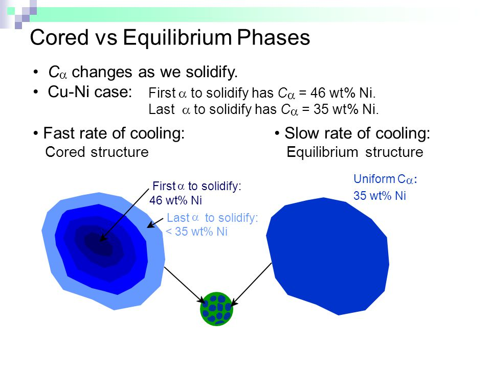 Cored vs Equilibrium Phases