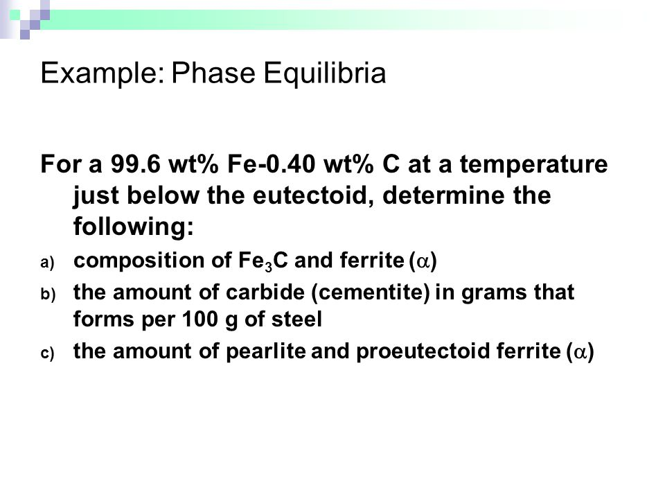 Example: Phase Equilibria