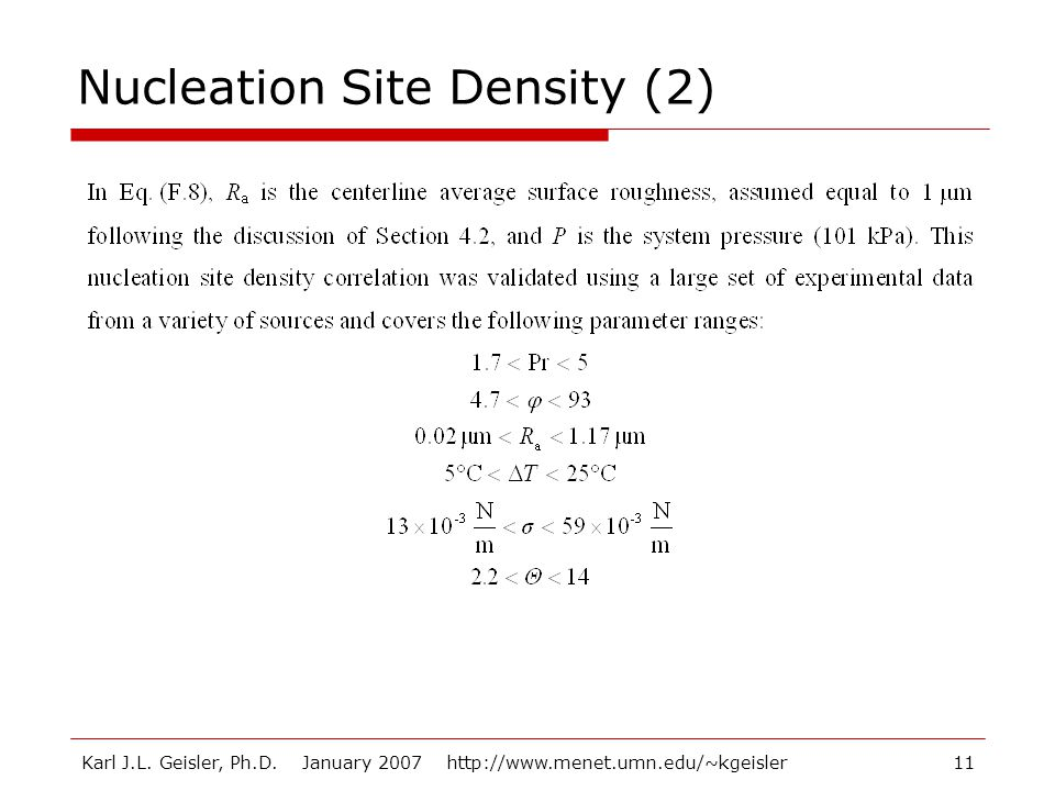 Nucleation Site Density (2)