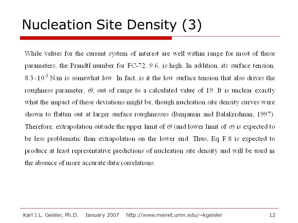 Nucleation Site Density (3)