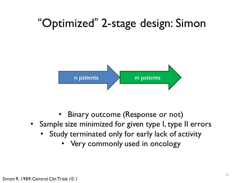 Optimized 2-stage design: Simon