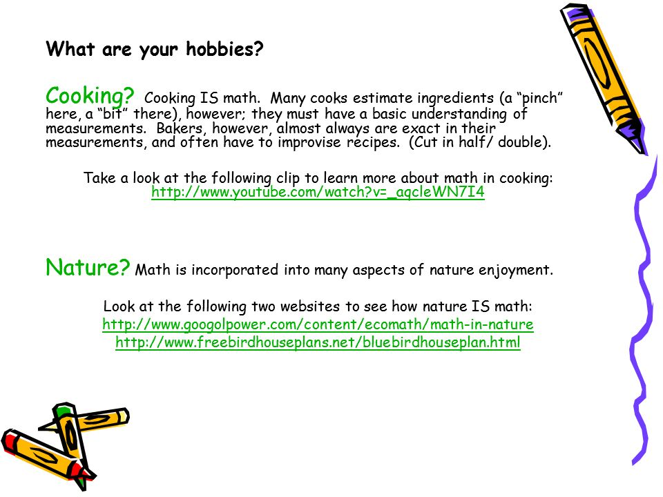Nature Math is incorporated into many aspects of nature enjoyment.