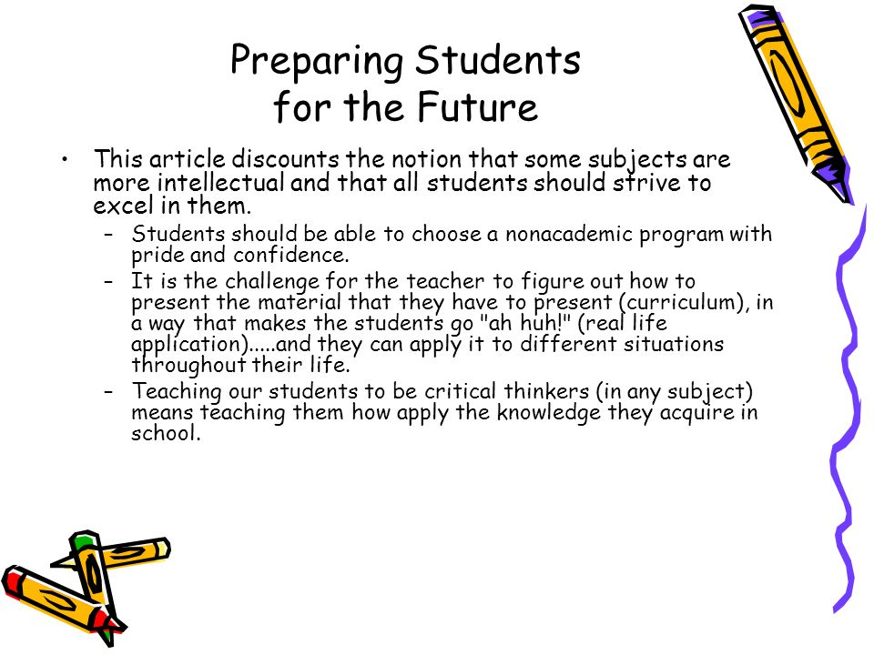 Preparing Students for the Future