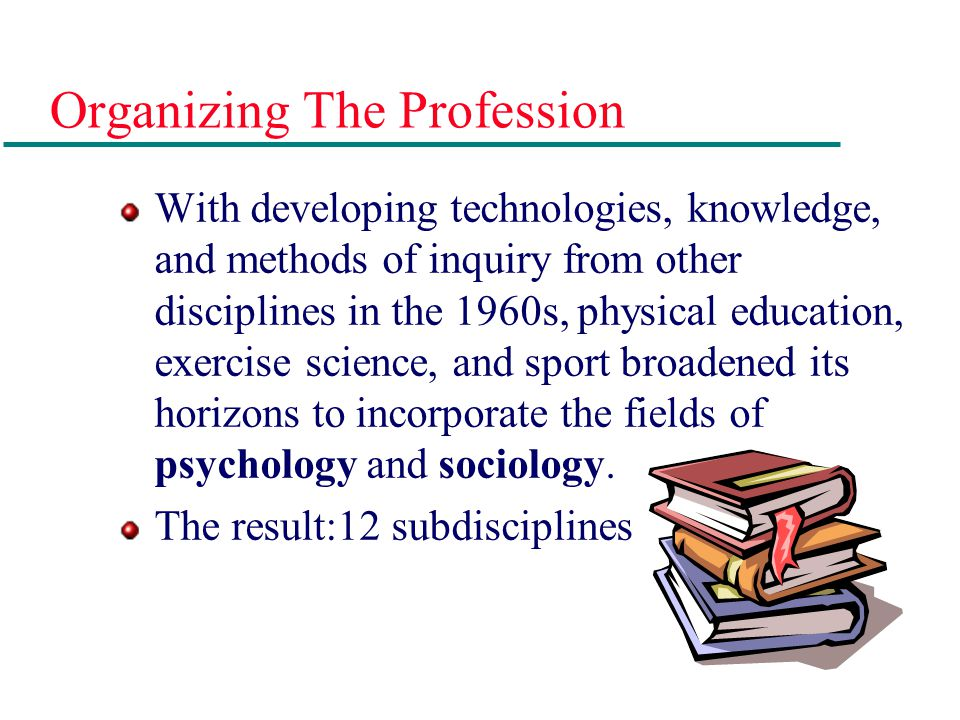 Organizing The Profession