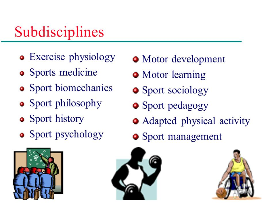 Subdisciplines Exercise physiology Motor development Sports medicine