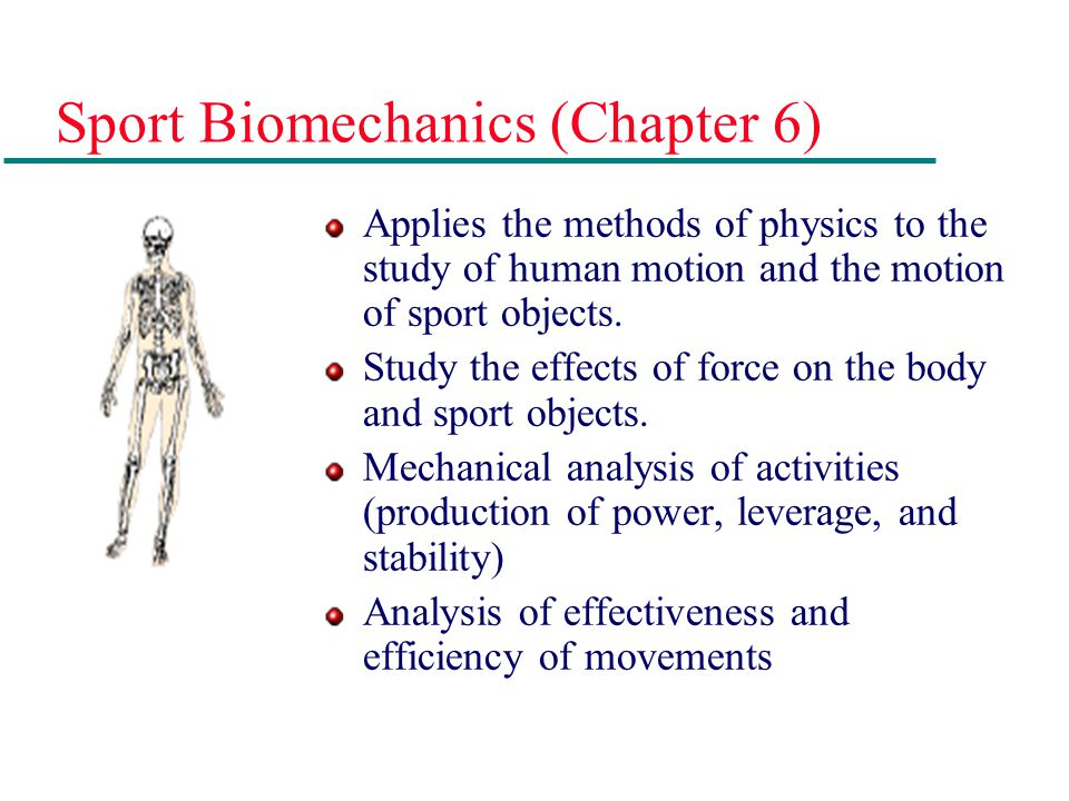 Sport Biomechanics (Chapter 6)