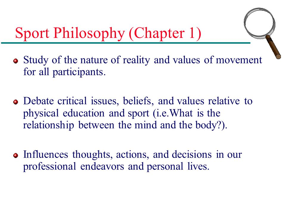 Sport Philosophy (Chapter 1)