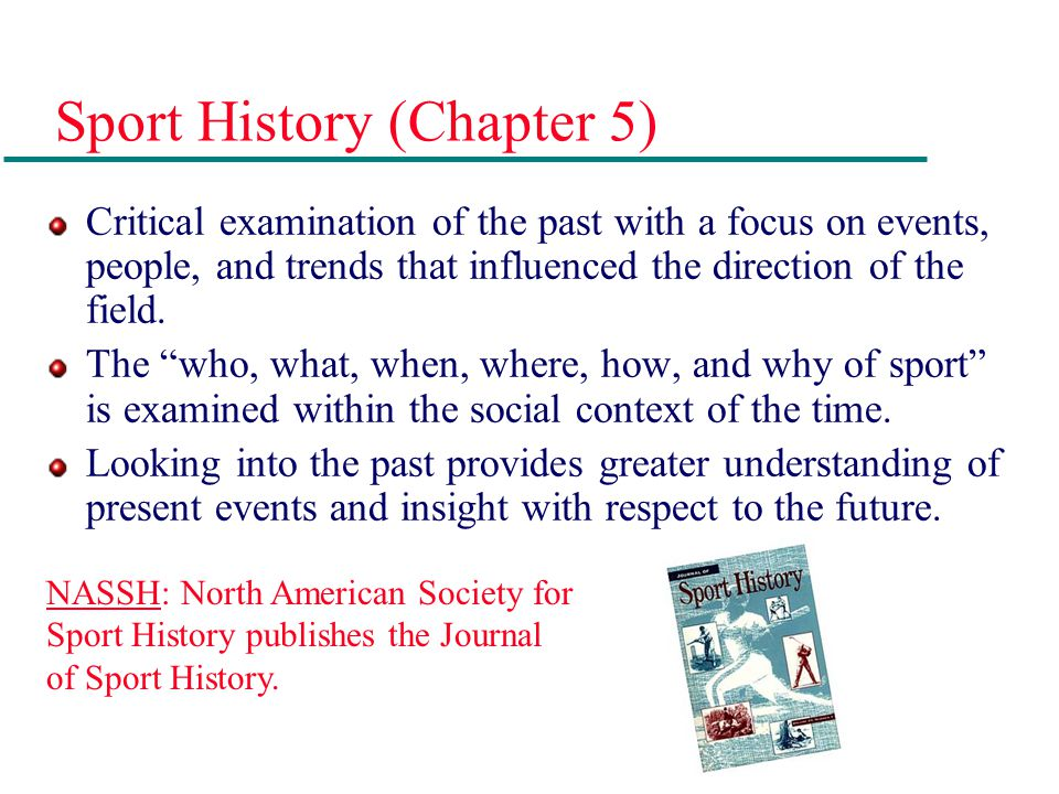 Sport History (Chapter 5)