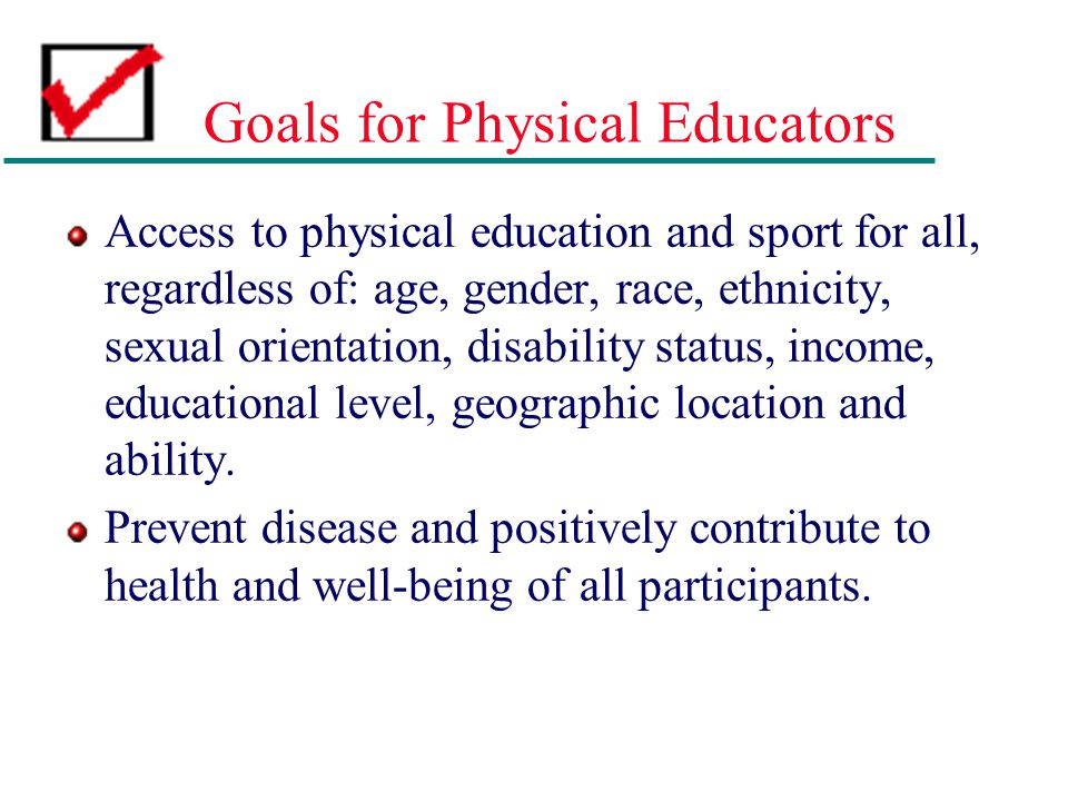 Goals for Physical Educators