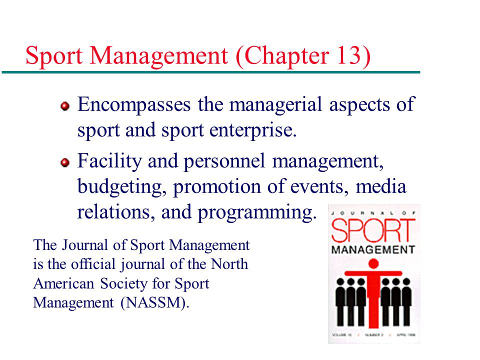 Sport Management (Chapter 13)