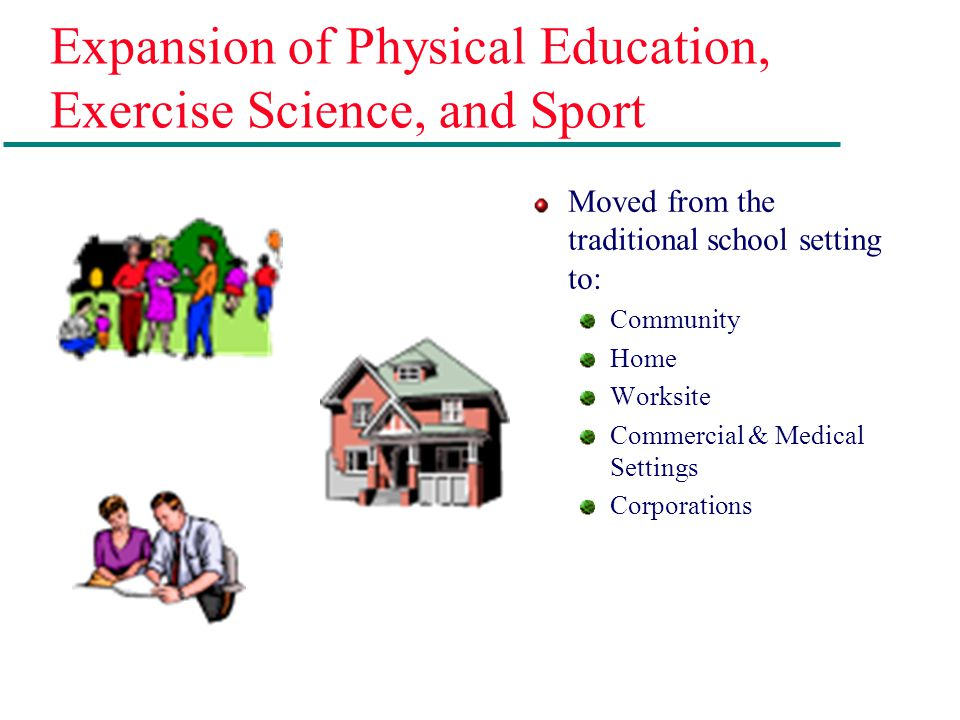 Expansion of Physical Education, Exercise Science, and Sport