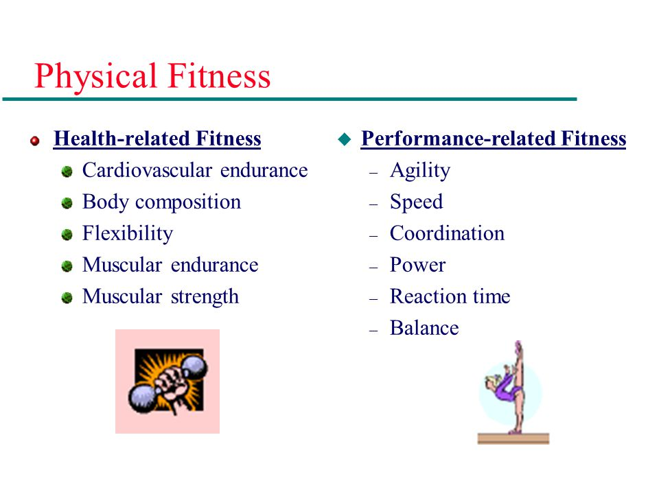 Physical Fitness Health-related Fitness Cardiovascular endurance