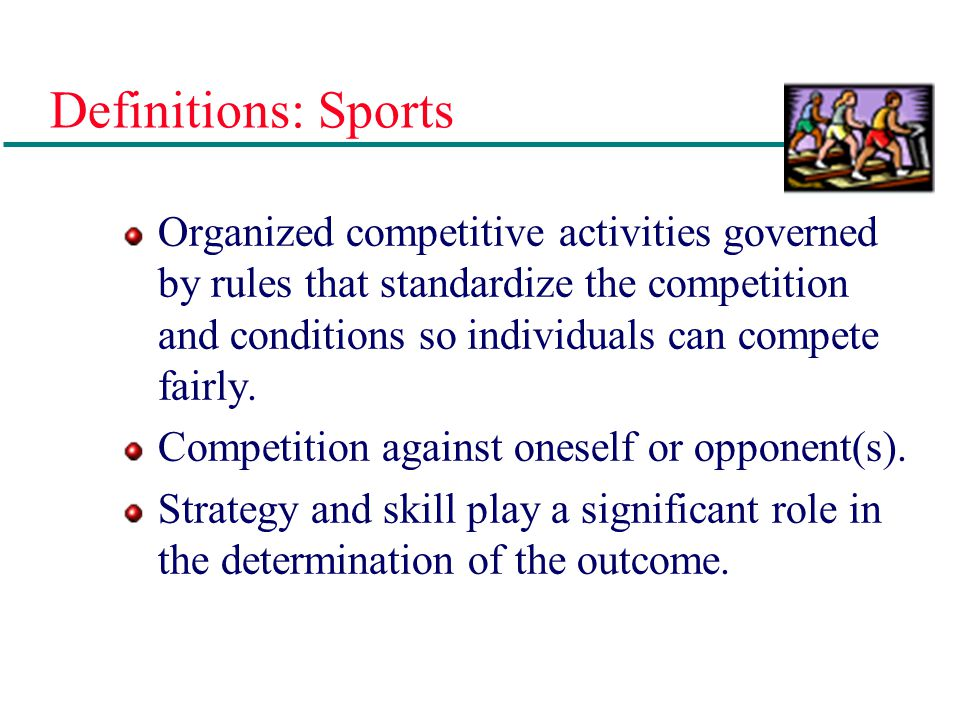 Definitions: Sports