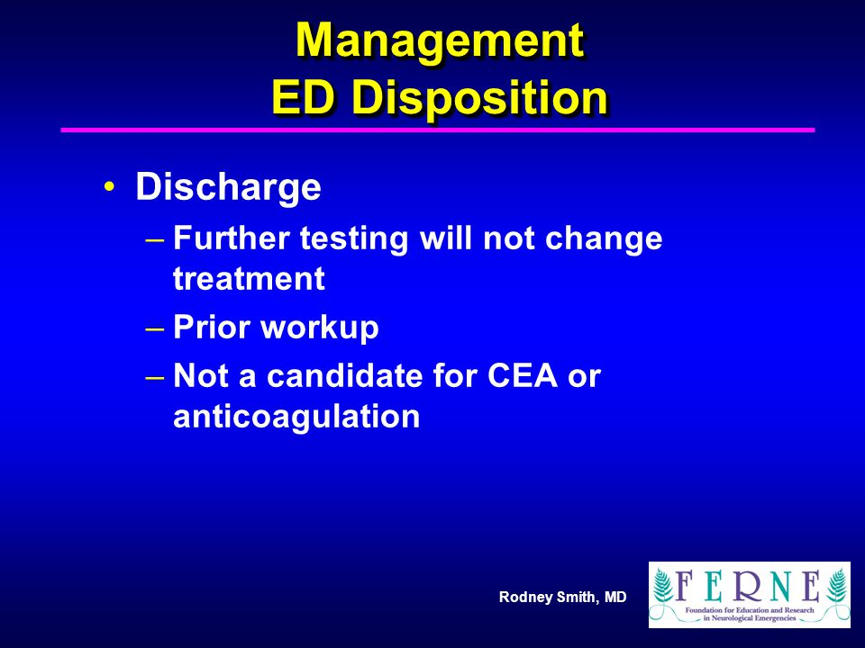 Management ED Disposition
