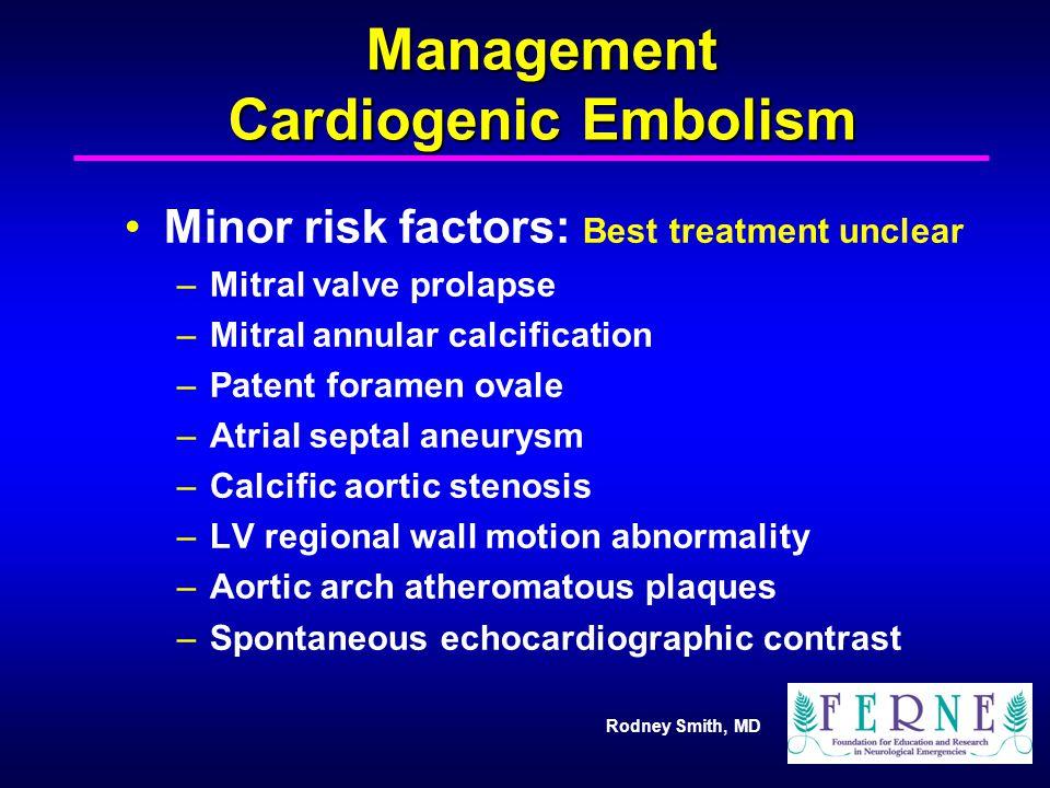 Management Cardiogenic Embolism