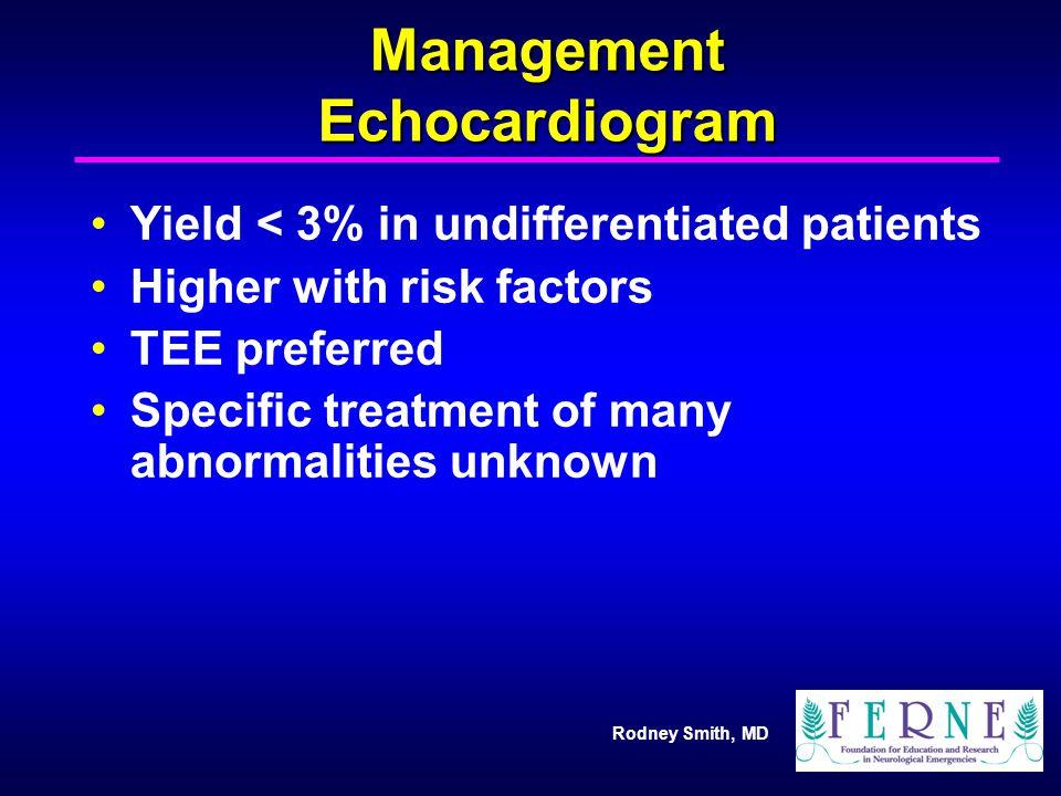 Management Echocardiogram