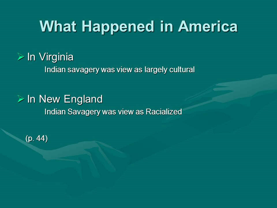 What Happened in America