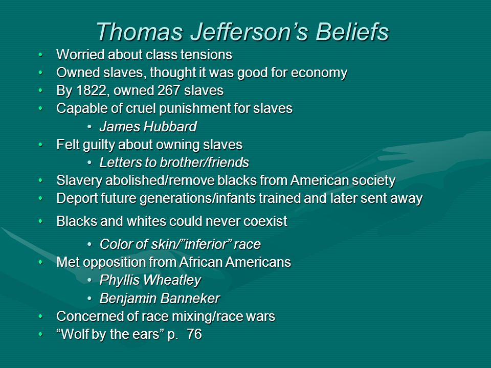 Thomas Jefferson's Beliefs