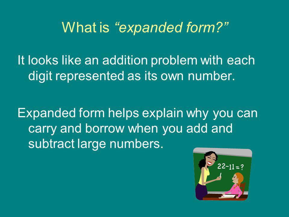 What is expanded form