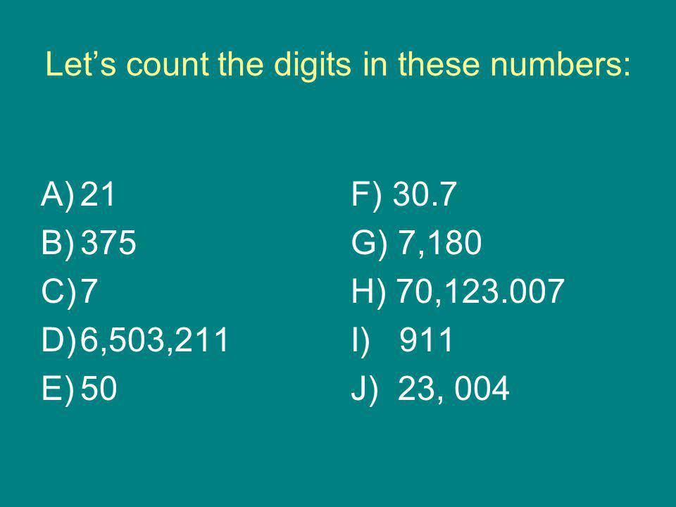 Let's count the digits in these numbers: