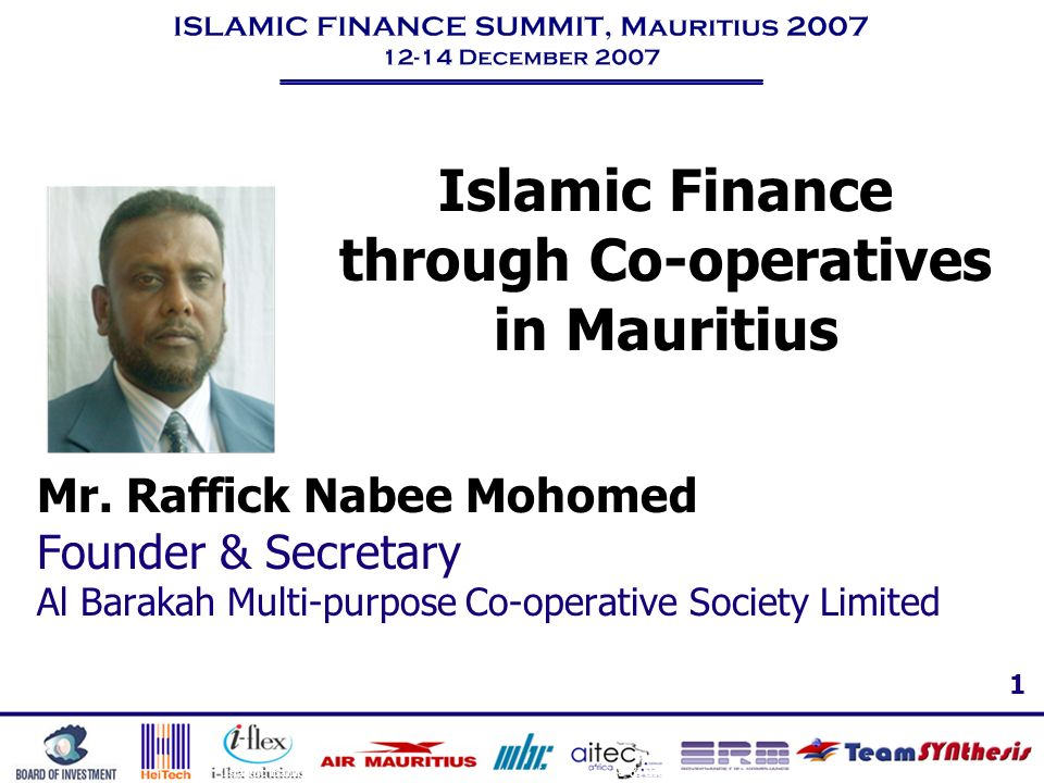 Islamic Finance through Co-operatives in Mauritius