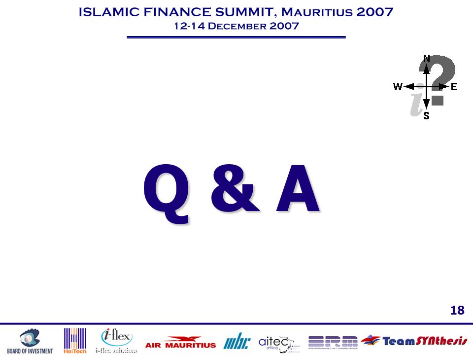 Q & A Islamic Banking – The trends, challenges & best practices worldwide & the Mauritius-African outlook.
