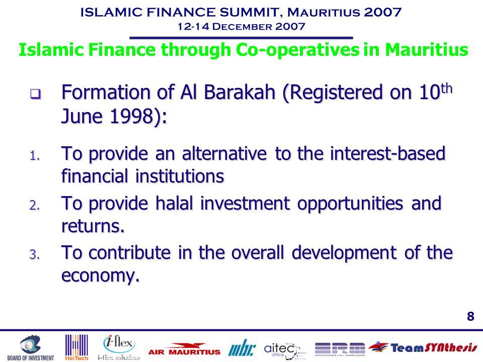 Islamic Finance through Co-operatives in Mauritius