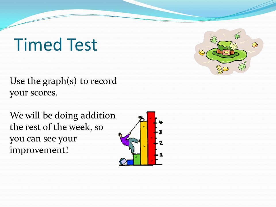 Timed Test Use the graph(s) to record your scores.