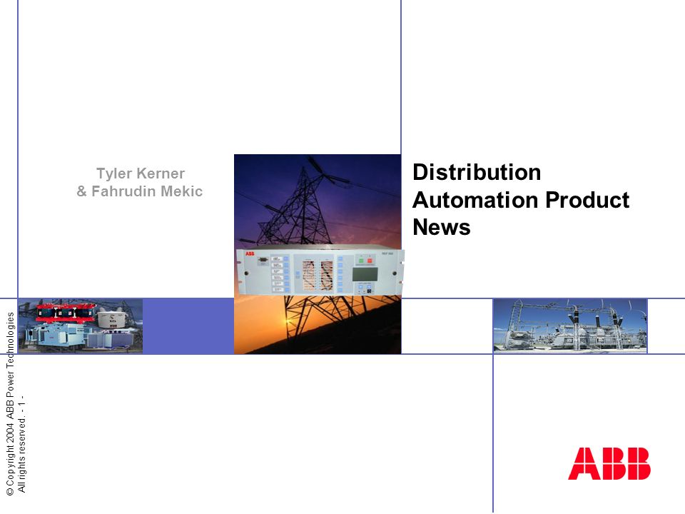 Distribution Automation Product News