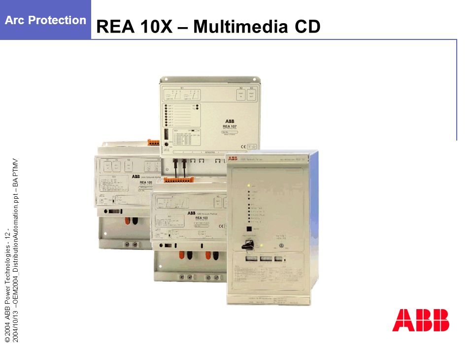Arc Protection REA 10X – Multimedia CD