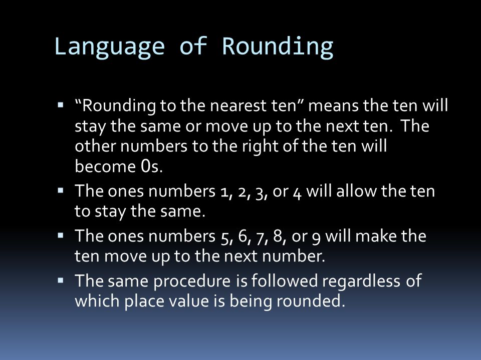 Language of Rounding