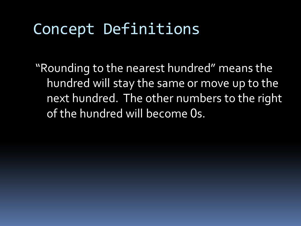 Concept Definitions