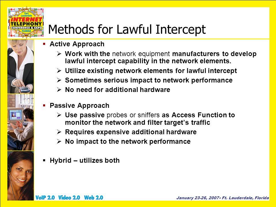 Methods for Lawful Intercept