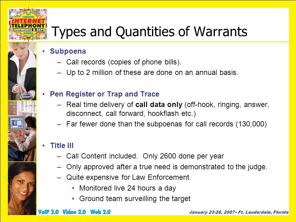 Types and Quantities of Warrants