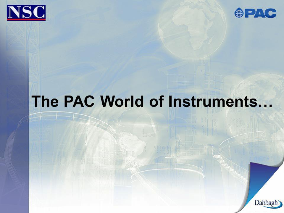 The PAC World of Instruments…