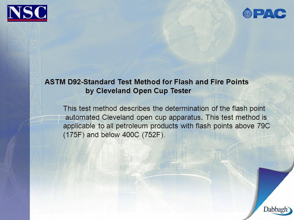 ASTM D92-Standard Test Method for Flash and Fire Points