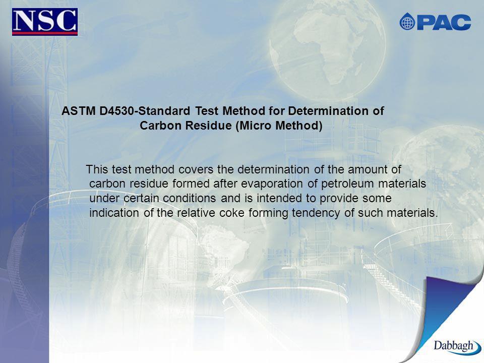ASTM D4530-Standard Test Method for Determination of