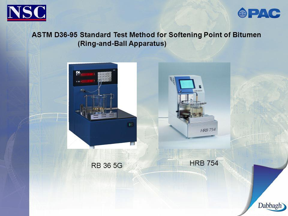 ASTM D36-95 Standard Test Method for Softening Point of Bitumen