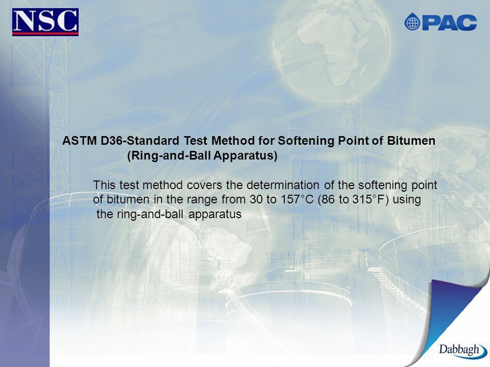 ASTM D36-Standard Test Method for Softening Point of Bitumen