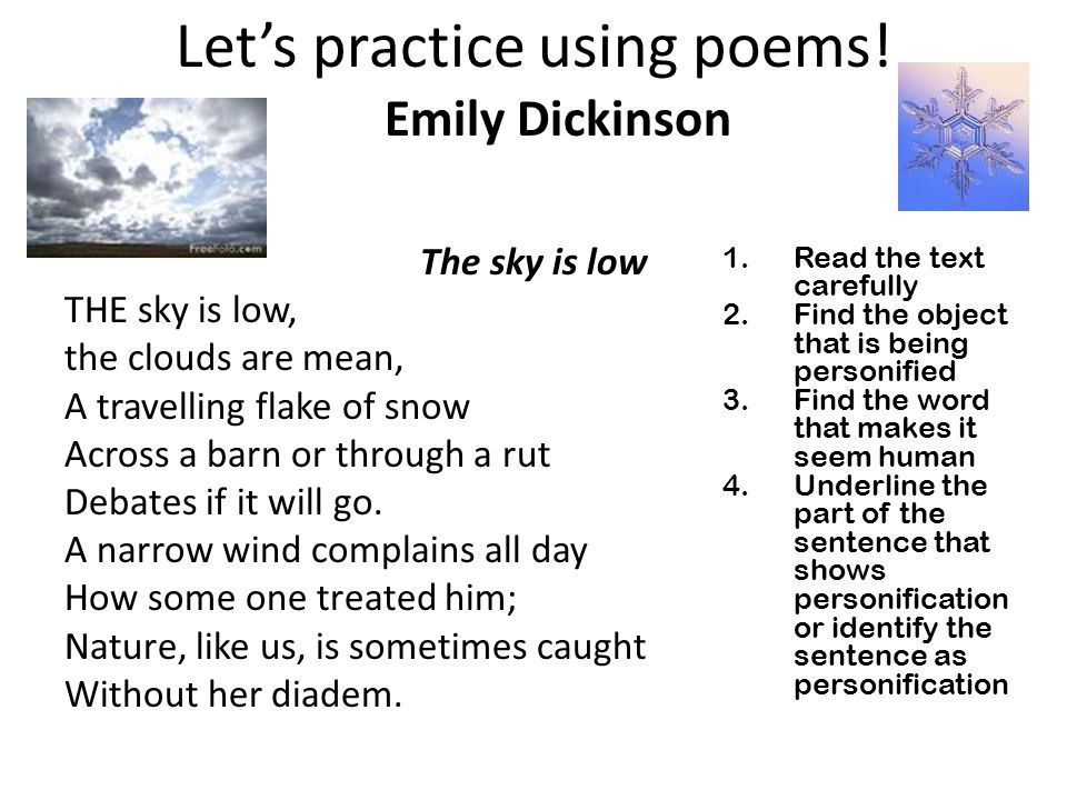 Let's practice using poems!
