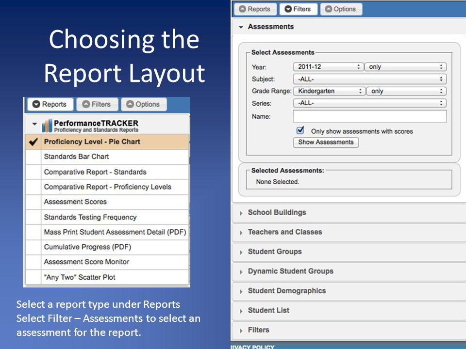 Choosing the Report Layout